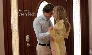Nubile films - cute legal age teenager face splattered with cock juice