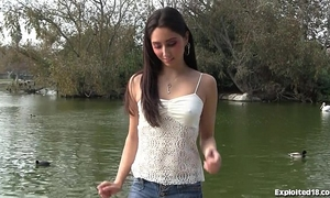 Hot eighteen year old enticed and drilled on camera