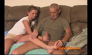 Daddy bonks daughter during the time that mom's at work