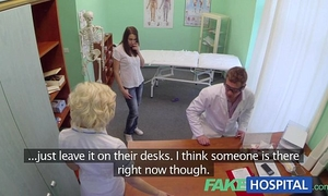Fakehospital gorgeous patient was prepped by nurse