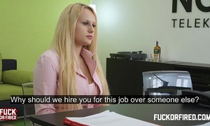 She desires a job and can't live without it up her a-hole