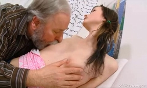 Old goes juvenile - jenya likes getting screwed by wicked old chap