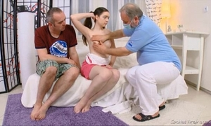 Julia's virgin bawdy cleft checked by doctor and carefully deflowered