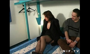 Chubby french wench anal drilled