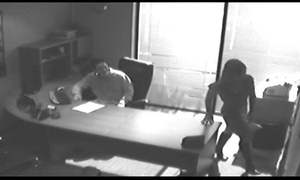 Office tryst receives caught on cctv and dripped