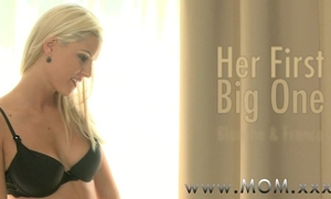 Mom golden-haired milf likes his large ramrod