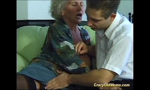 Busty eager old mamma needs merely recent rock hard dongs