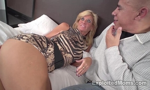 Sexy blond milf acquires drilled by dark rod in non-professional interracial episode