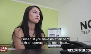 Barbora bonks me hard to prove she's worth hiring