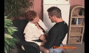 Old retired granny acquires some youthful penis