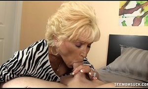 Naughty granny fellatio
