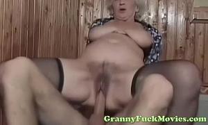 Dude copulates hot euro granny