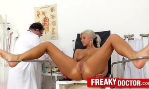 Beautiful golden-haired nathaly heaven twat exam