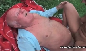 Pretty honey drilled by old man