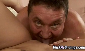 Horny old fellow fuck hawt golden-haired