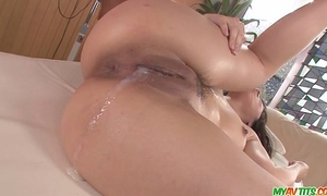 Chinatsu gives an oriental oral-stimulation and bonks