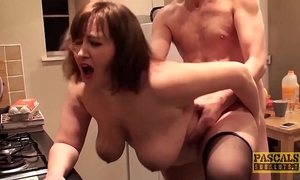 Hardfucked plumper fed with doms large knob and sexy cum