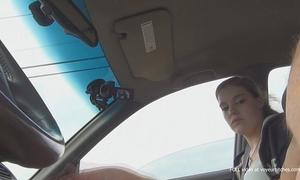 Teen watches fellow beat off