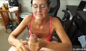 A wicked older slutwife sucks and jerks