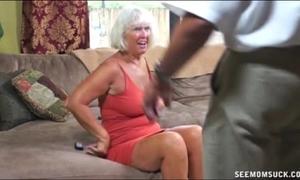 Granny oral sex