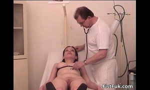 Horny doxy got fingered and fisted