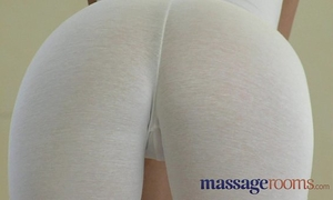 Massage rooms large natural boobs and petite hands satisfy