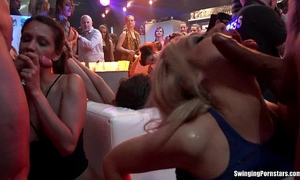 Sexy party honeys fucking in club fuckfest