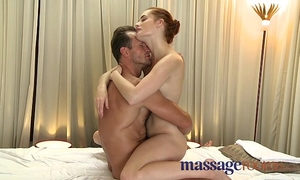 Massage rooms youthful blond and red head receive unfathomable agonorgasmos from large knob