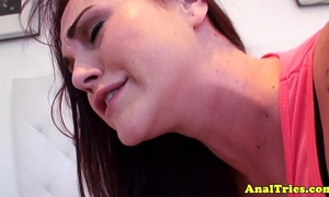 Anal loving girlfriend enjoys it hard