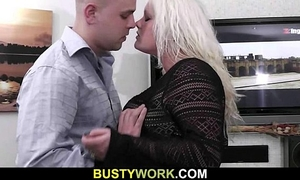 Hot plumper getting doggy style screwed
