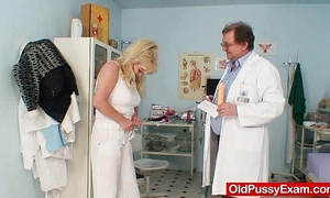 Blonde gran bawdy puss test and enema
