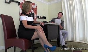 Creative interview technique - footjob footfetish