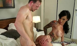 Petite tattooed breasty dark brown lily lane fucking in daybed