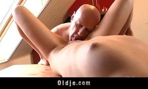 Pervert mature fuck youthful mini blond