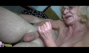 Grey old granny loves youthful dude
