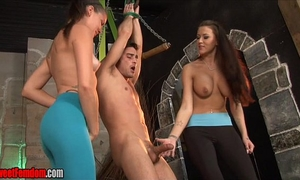 Alexis grace and michelle peters ballbusting cbt femdom