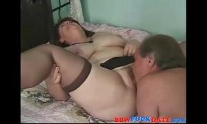 Curvy chunky older white women wearing dark stocking