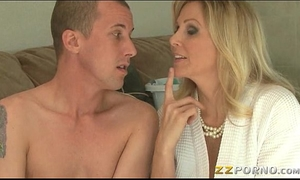 Massive breasts milf julia ann gives head and twat pounded