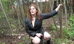 Amateur sweetheart jannas public masturbation and outdoor fake penis toying