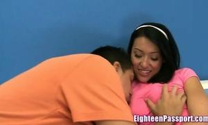 Ebony girlfriend enjoys getting drilled