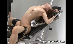 Nasty oriental bitch in slavery acquires her love tunnel teased