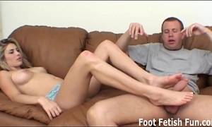 Made to worship the feet of a female-dominant