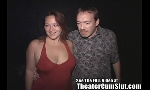 Milf makes each stud in porn theater cum