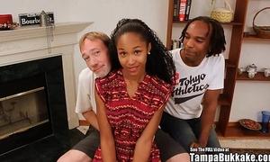Tampa bukakke beauties - 18yo dark legal age teenager cheerleader fuckee suckee!