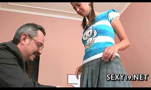Horny old trainer giving lessons