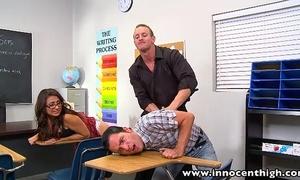 Innocenthigh large bumpers dark brown schoolgirl rikky nix classroom fucking