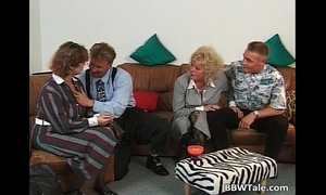 Two plump and lewd cheating wife blowing schlong