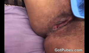 Naughty dark white wife getting her unshaved love tunnel group-fucked