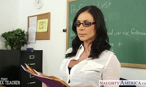 Brunette teacher kendra longing acquires facialized