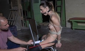 Submissive young girl in stockings agrees to be a sex toy